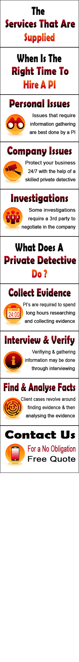 Services Supplied By Private Investigator Worthing In